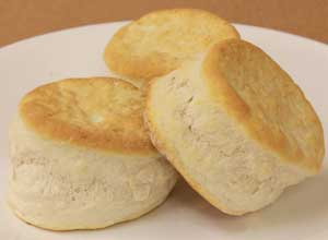 """""""Every scratch-made biscuit enjoyed by a US service member overseas is prepared from Mountain Maid bakery mix."""""""