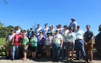 TVS team tours Gaia Herbs farm